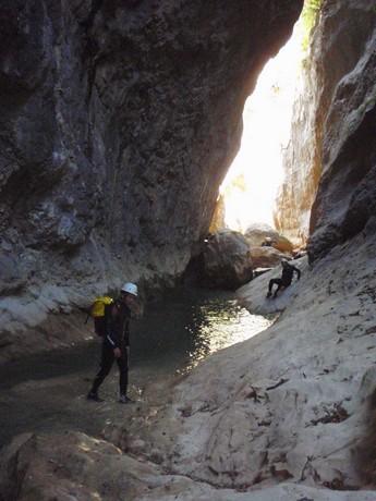 Descenso Barranco Gorgas Negras, Sierra de Guara